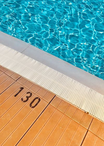 Good morning! Today is a pool day! 😎 IPhoneography Pisa Tuscany Still Life Swimming Pool Swimming Pool Swimming Pool Water High Angle View Sunlight Poolside Nature Day Blue Text No People Pattern Summer Turquoise Colored Sunny Sport Rippled Outdoors