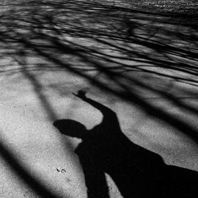 Blackandwhite Dancer Focus On Shadow Lac De Malsaucy Light And Shadow Shadow Silhouette Trees Unrecognizable Person