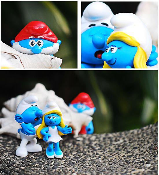 My small broken heart Figurine  Human Representation Still Life Toy Smurfs Broken Heart