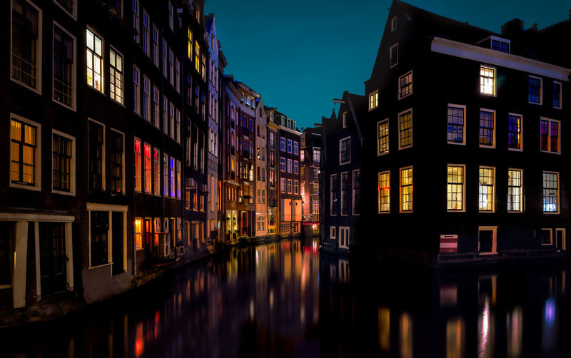 Building Exterior Architecture Built Structure Building Reflection Water Illuminated Night Residential District Waterfront Nature No People City Sky Canal House Outdoors Window Multi Colored Row House Remo SCarfo Amsterdam Dutch EyeEm Best Shots EyeEmNewHere