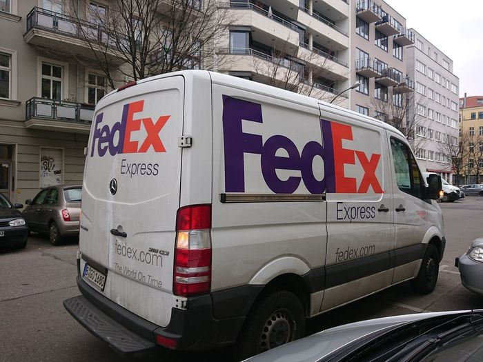 Berlin, Germany - March 26, 2018: FedEx van. FedEx Corporation is an American multinational courier delivery services company Delivery Delivery Service Delivery Van FedEx Transport Transportation Car Cargo Carry Courier Deliver Delivery Truck Freight Transportation Land Vehicle Mode Of Transport No People Outdoors Shipment Speed Transportation Truck Van Vehicle