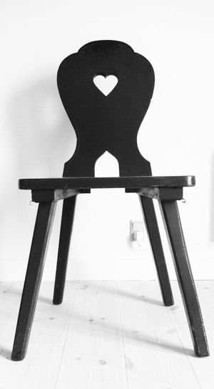 Blackandwhite Chair Furniture Heart