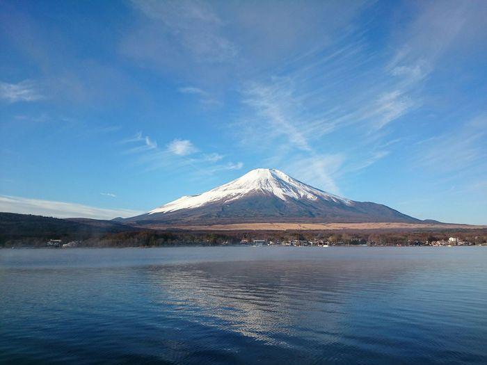 山中湖 ワカサギ釣り 富士山