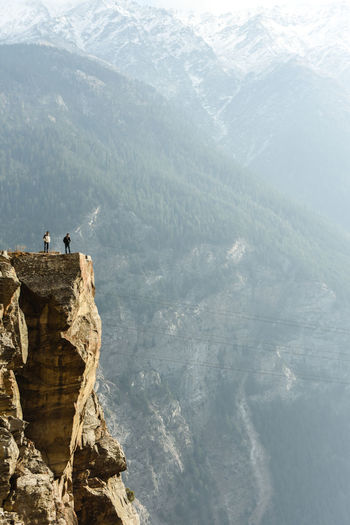 Person on the edge of cliff