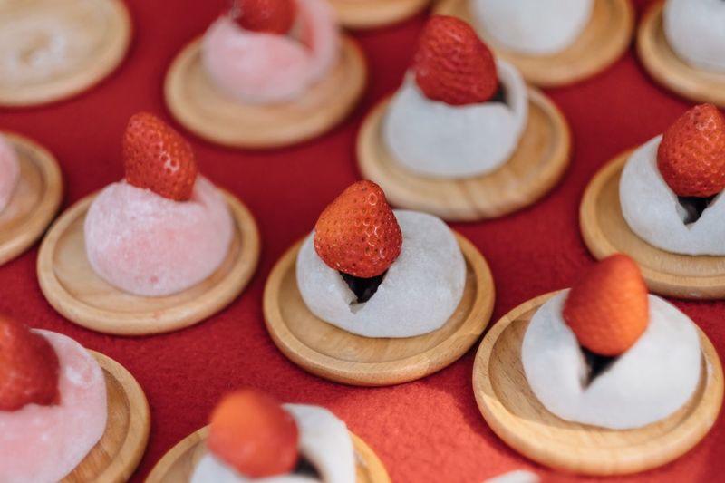 Close-up of japanese mochi