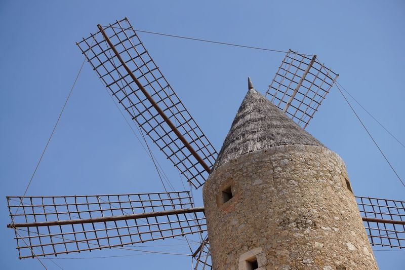 Maria De La Salut Mallorca Holiday Built Structure Low Angle View Windmill Windmühle
