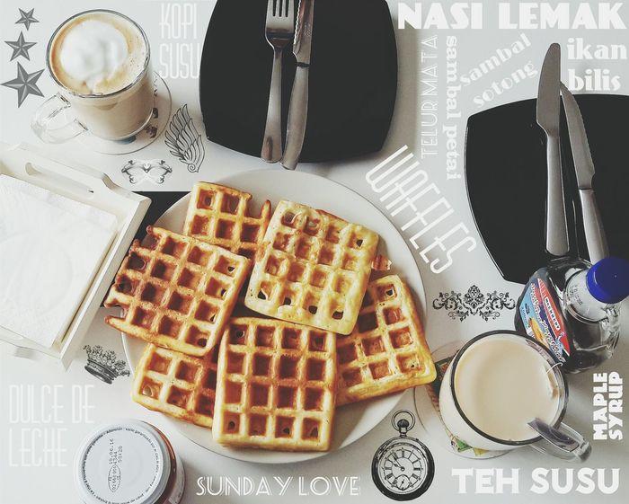Waffles Sunday Fun Breakfast In My Mouf