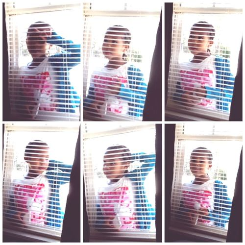Lol my lil sis was talking to me through the window ❤