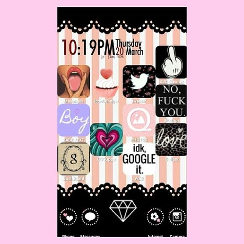 The Otherhalf my Customicons Homescreen Cocoppa androidforever always Android hipster pinklove pinkforever pink girly original losangeles
