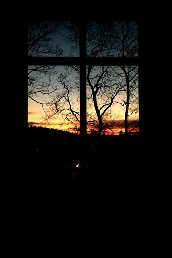 Another Breathtaking Sunset in Vilnius from my Window Sunset Silhouettes