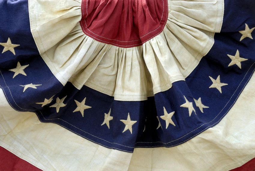 Decorative Patriotic Red, White, and Blue American Flag Bunting American Flag Celebration Labor Day Memorial Day Patriotic Small Town America American Culture Background Bunting Close-up Decoration Election Fabric Flag Fourth Of July Patriotism Political Debate Political Rally Red White And Blue Stars And Stripes