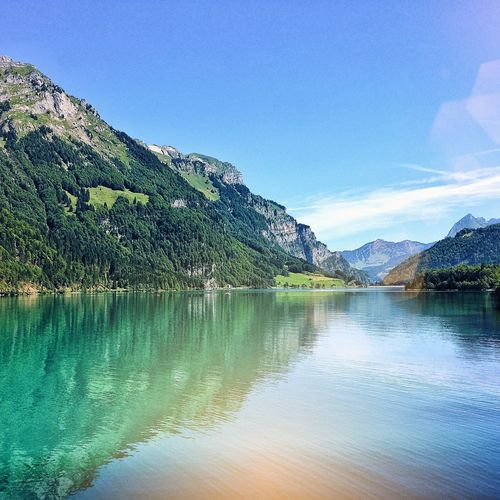 Hiking Mountainlake Lake View Alps Water Nature Clear Sky