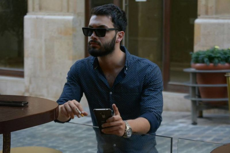 Afternoon Light Amazing Arabswag Beauty Cool Emotion Gentlemen Glasses Him ❤ Intresting Place Just Him Lifestyles Like Man Made Object One Person Outdoor People Perfection Real People Really Cool Simplicity Style And Fashion Young Adult Young Men