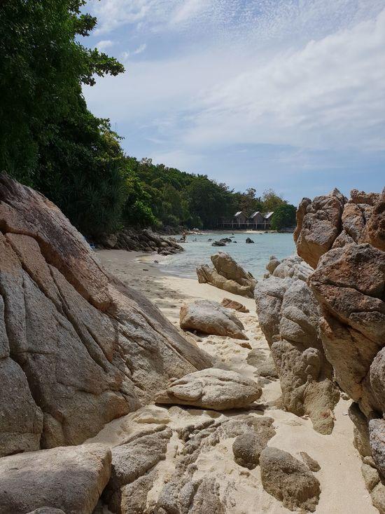 beach view through rocks...