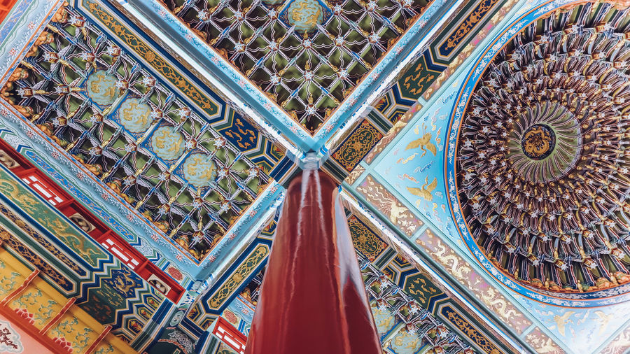 Religion's Right Angle 17.62° Architecture Pattern Built Structure Ceiling Low Angle View Place Of Worship Design Belief Religion No People Building Indoors  Day Travel Destinations Ornate Art And Craft Spirituality Craft Cupola Floral Pattern Geometry Pattern Geometric Shapes