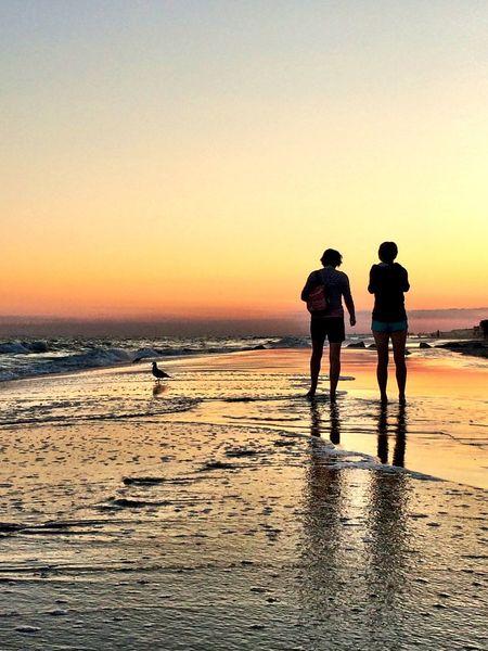 Sunset At Long Beach, NY Sunset Silhouettes Splendid_reflections EyeEm Best Shots