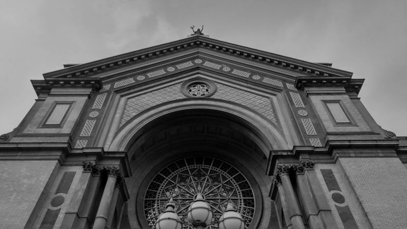 Saw this at Alexandra Palace, couldn't help but take a pic Couldn't Help But Take Pic Architecture Sky Low Angle View Building Exterior No People Outdoors Arch Built Structure City Palace Alexandra Palace Park London Day Out Day
