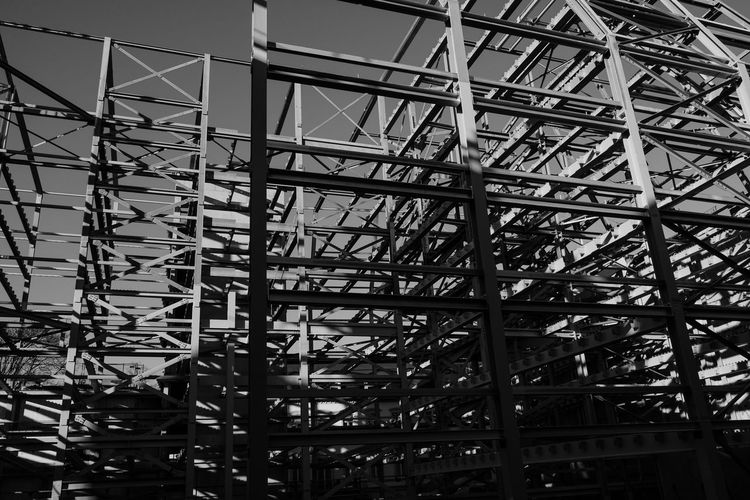 Abstract Abstract Art Abstract Photography Architecture Built Structure Day Empty Low Angle View Metal No People Outdoors Sky Structures X-t2