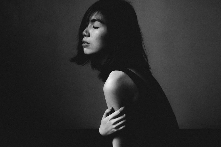 Black & White Black And White Blackandwhite Contemplation Creative Light And Shadow EyeEm Best Edits EyeEm Best Shots Eyeem Philippines Indoors  Light And Shadow Person Portrait Real People Side View Young Women Showcase March The Portraitist - 2016 EyeEm Awards The Portraitist - 2017 EyeEm Awards