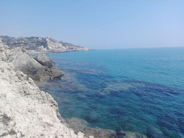 Sea Scenics Water Horizon Over Water Outdoors Clear Sky Beach Coastline Sky Landscape Nature No People Natural Parkland Beauty In Nature Enjoying Life Beauty In Nature Holiday Romantic Italy Sicily, Italy Mollarella Beach Summertime Hot Travel Destinations Love Baia