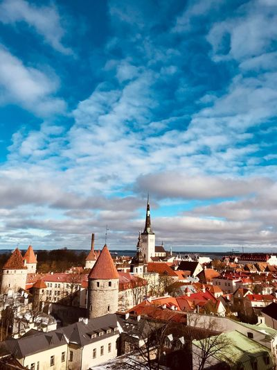 Blue Sky Baltic Countries Tallinn Estonia Tallinn Old Town Tallinn Estonia Architecture Panorama Panoramic Landscape Cloud - Sky Architecture Building Exterior Built Structure Sky Building Religion City Spirituality Cityscape Nature Residential District Place Of Worship Belief No People Day Outdoors Spire