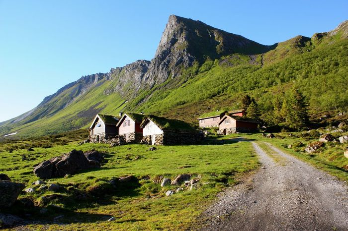 old shepherd cottages in Romedal, Ørsta Built Structure Day Exploring Geology Landscape Mountain Norway Old Buildings Outdoors Season  Vacation