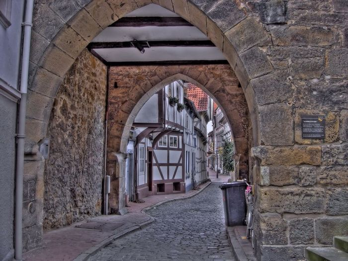 HDR Fachwerk Hildesheim Old Germany