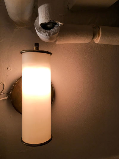 Close-up of lit lamp
