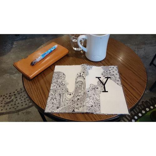 友達の手帳に落書きさしてもらいました。 Diary Lacgaki Art Painting