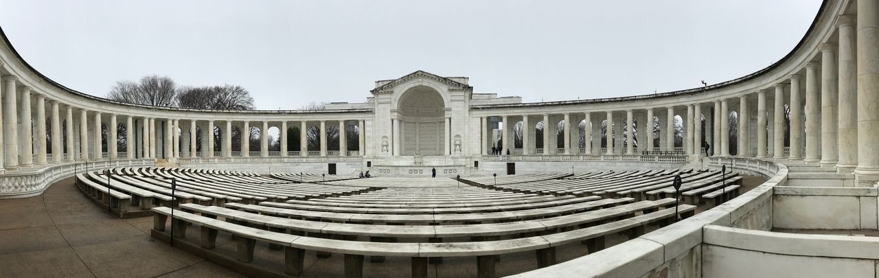 Arlington Memorial Amphitheater, Arlington National Cemetery, Virginia Virginia Arlington National Cemetery Arlington Memorial Ampitheater Architecture Built Structure Building Exterior Sky Day Nature Travel Destinations No People History Building Tourism Travel
