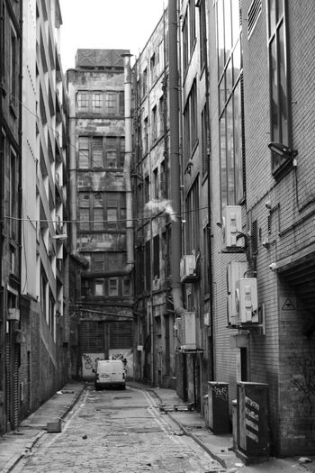 Ghetto City Car Street Architecture Building Exterior Built Structure Run-down Ruined Old Ruin Alley Fire Escape Emergency Exit Rubble Weathered Abandoned Damaged
