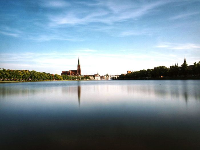 Schwerin Mecklenburg-Vorpommern Cityscape Water Reflection Built Structure Architecture Bestview Magical Places Longexposure Beauty In Nature Magical Moments Travel Destination No People