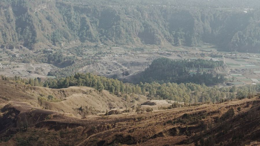 High angle view of landscape