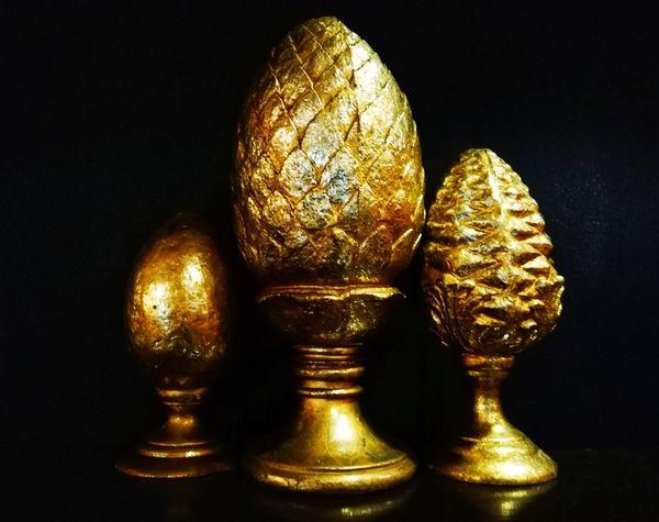 Gold Golden Golden Egg Goldenegg Gold Eggs Eggs... Egg Egg Holder Black Background Gold Statue Gold Colored Shiny Close-up