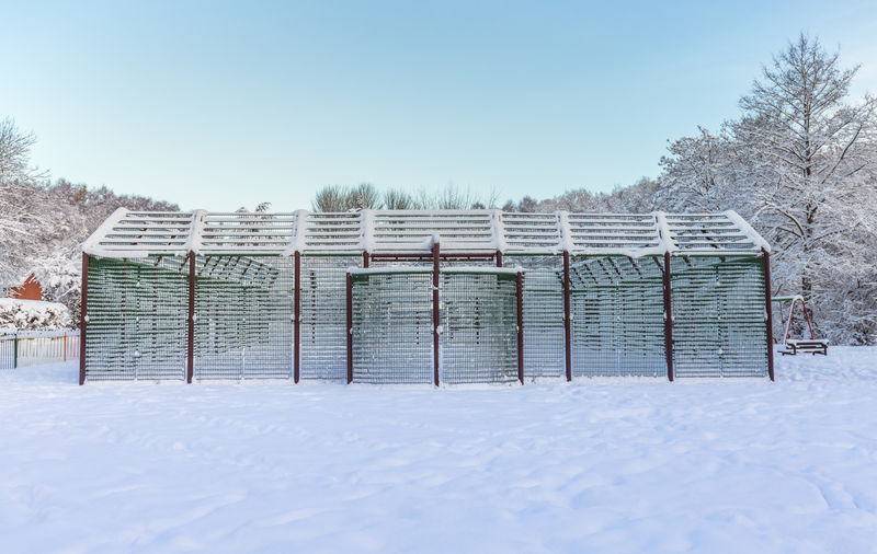 Built structure covered in snow