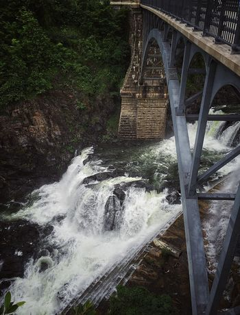 "A ""dam"" good view Dam Bridge River Over The Edge Waterfall View From Above Looking Down Showing Why I Don't Care About Being An EyeEm Open Editor Showing Why I Could Be An Open Editor The Traveler - 2015 EyeEm Awards"