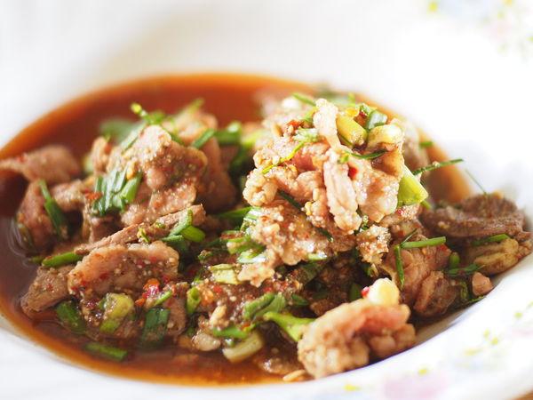 ลาบ Isan food in Thailand Close-up Day Food Food And Drink Freshness Healthy Eating Indoors  Isan Food No People Ready-to-eat Spicy Thai Food ลาบ