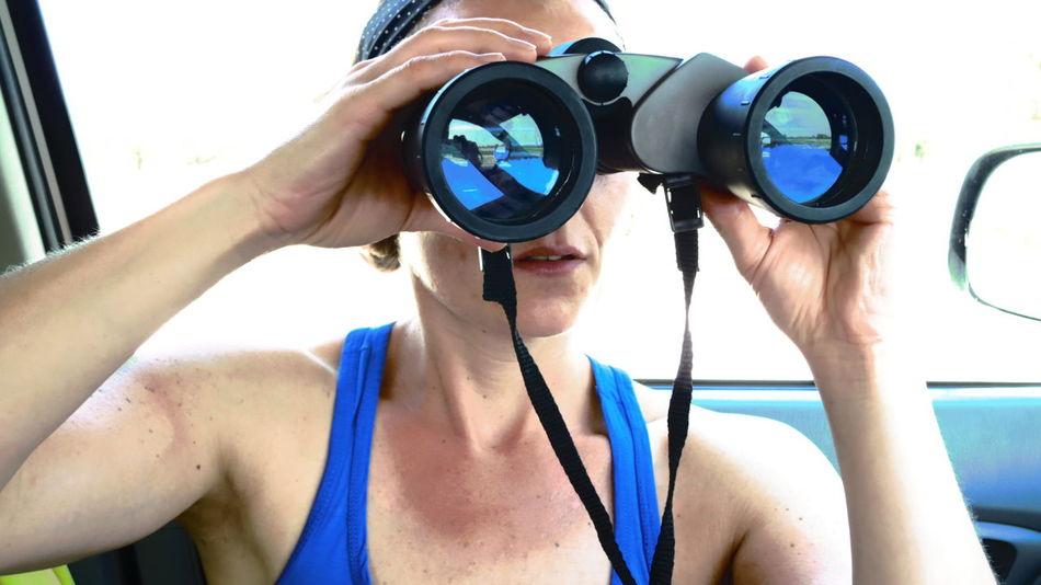 Africa Binoculars Blue Day Nature Safari Waterberg