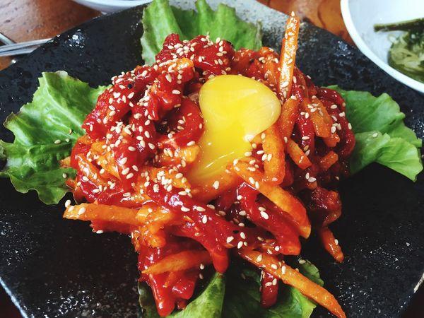 Korean style raw beef Food Raw Food Korean Food Raw Beef