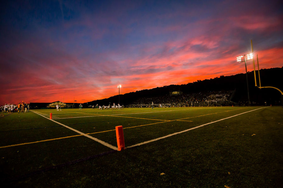 Football Friday Night Lights Orange Sky Beauty In Nature Cloud - Sky Competition Competitive Sport Goal Post Grass High School Football Nature No People Outdoors Playing Field Sky Soccer Soccer Field Sport Sports Stadium Sunset