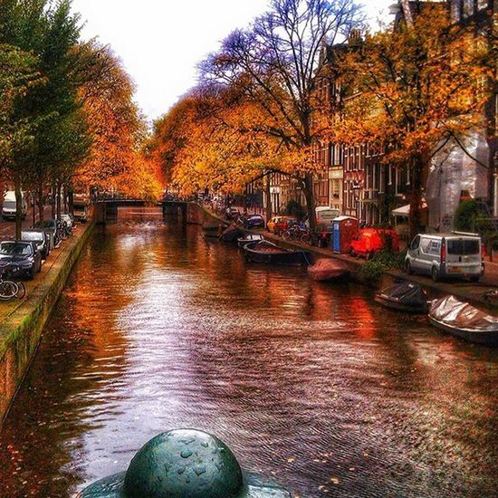 Amsterdam Thenetherlands Holland Kanal Boats Colors City Europe