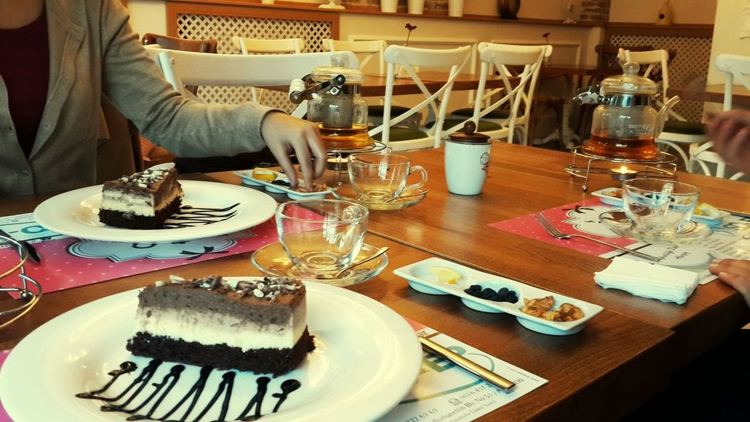 Tea Delicious Chocolate Cake Amazing Great Place