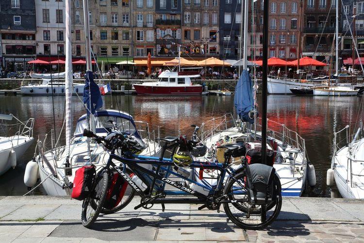 Honfleur Normandie France Boat Boats Bike Water Colors Colorsplash Color Of Life Travelling Traveling CyclingUnites Let's Go. Together.