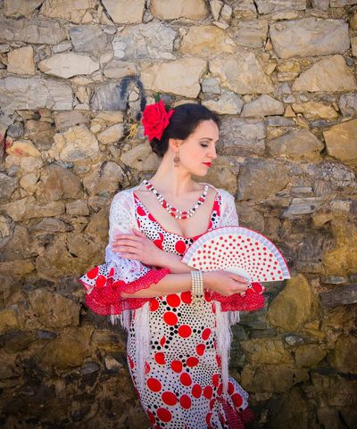 Andalucía Flamenco Spanish Woman Adult Adults Only Beautiful People Beautiful Woman Beauty Beauty In Nature Day Fashion Flower Fragility Human Body Part Human Hand Human Lips Nature One Person One Woman Only One Young Woman Only Only Women Outdoors People Red Standing Women Young Adult Young Women