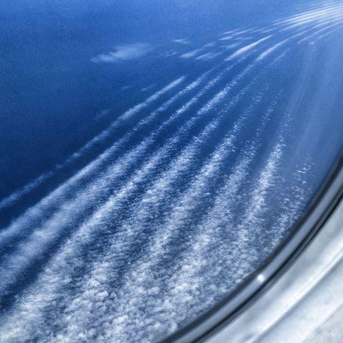 Cloud effect over the Atlantic InFlightPhoto Sea Aerial View Cloudsporn Cirrusradiatus Cirrus Clouds