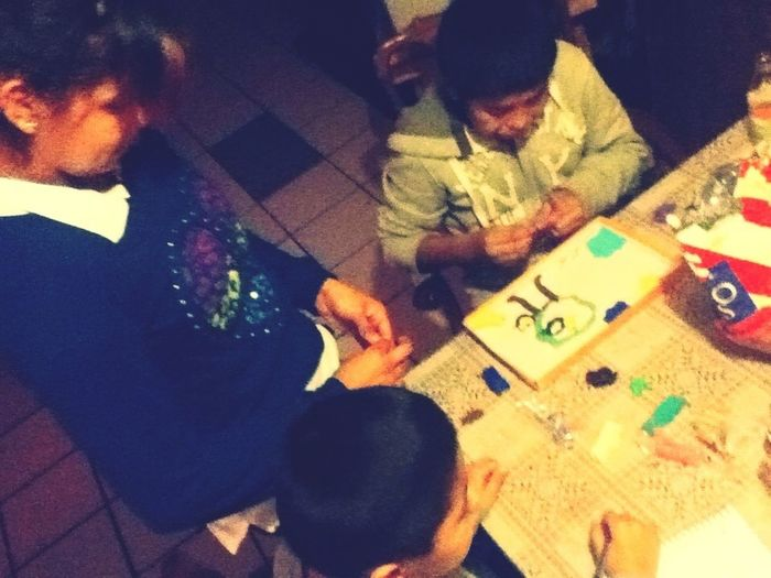 My Kids Playing Con Plastilinaa <3 Lovee Them ^.^