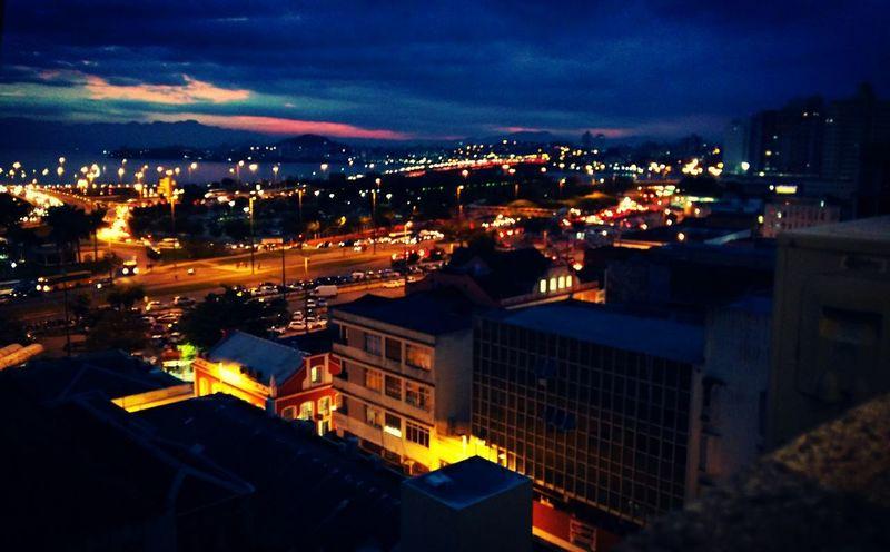 Light And Shadow City At Night Colors Architecture Nightlife Sky Illuminated FloripaBeach Floripastyle Sunset Lovers Floripa
