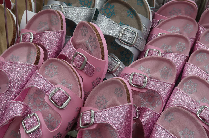 Group of sandals Summer Shoes Shoe Market Girl Pink Fashion Store Shop Stylish Glitter Sandals Sandal Group Female Footwear Close-up Stack Trendy Variation Pile No People Pink Color Large Group Of Objects Personal Accessory Choice Repetition Arrangement