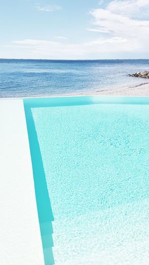 Infinity Pool Beach Beauty In Nature Blue Day Horizon Over Water Idyllic Infinity Luxury Nature No People Outdoors Pool Scenics Sea Sky Swimming Pool Tranquil Scene Tranquility Vacations Water