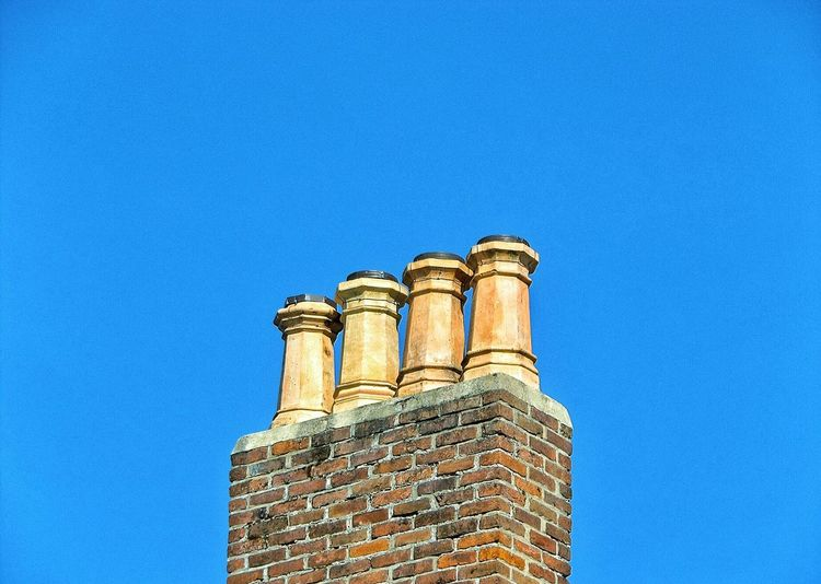 Colour Of Life Color Palette Still Life Simple Vivid Architecture Chimney Tops Blue Sky Outdoors The Architect - 2017 EyeEm Awards